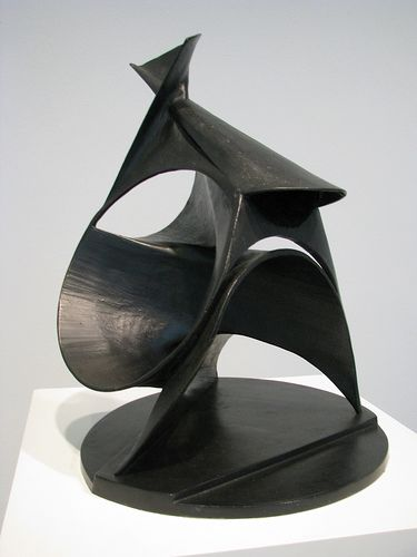 The Black Lily (Spiral Construction), 1943 Bronze. Antoine Pevsner (1886-1962) was a Russian sculptor and the older brother of Alexii Pevsner & Naum Gabo. Both Antoine and Naum are considered pioneers of twentieth-century sculpture and invented the term Constructivism. They developed an industrial, angular style of work, while its geometric abstraction owed something to the Suprematism of Kasimir Malevich.