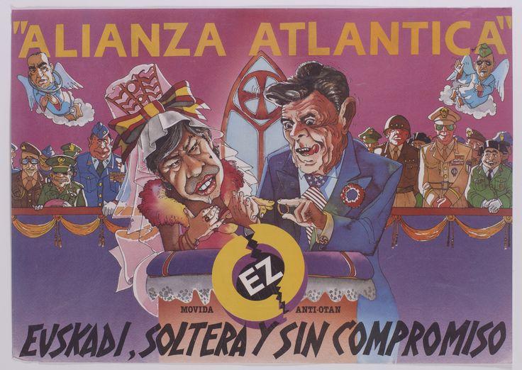 La cartelística del EMK (Movimiento Comunista de Euskadi) fue de las más destacadas y de las que marcaron una referencia por el impacto e imaginación de sus composiciones y mensajes. Durante años se dejó notar en los carteles de ese partido y en diferentes campañas unitarias la labor creativa de uno de sus diseñadores, Álvaro Gurrea.