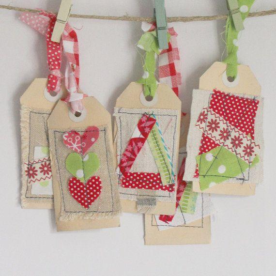 Ensemble de balises de cadeau de Noël de 5 par roxycreations