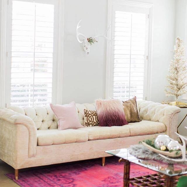 White Leather Sofa Thanks to a vintage find sofa and some