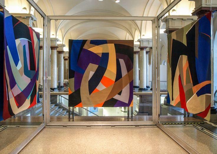 Stuttgart show curated by Nancy Crow- art quilts by Marina Kamenskaya
