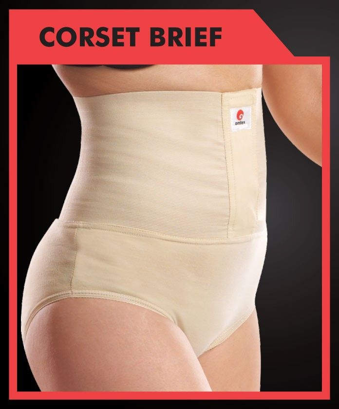 Omtex Corset Brief (Skin)  Flatten your figure with cotton spandex 4 way stretch fabric.