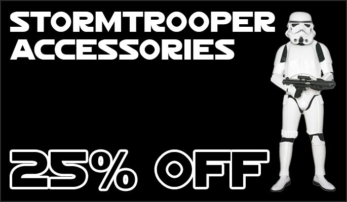 JediRobeAmerica.com Black Weekend Mega Sale - Replica Stormtrooper Accessories now 25 percent off