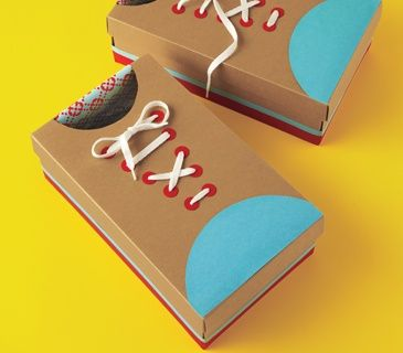 """These giant """"shoes"""" can be decorated according to your child's obsession du jour (ballet slippers, robot feet, replicas of Mommy's favorite wedges). They're great for clomping around during a silly dance party or a goofy relay race. And younger kids can use them to practice their bow-tying skills."""