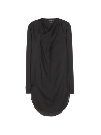 'Longer length black Heloise silk top By Isabel Marant'