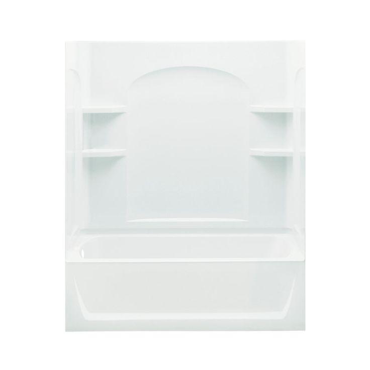Sterling Ensemble White Fiberglass And Plastic Composite Rectangular  Skirted Bathtub With Left Hand Drain (Common: 32 In