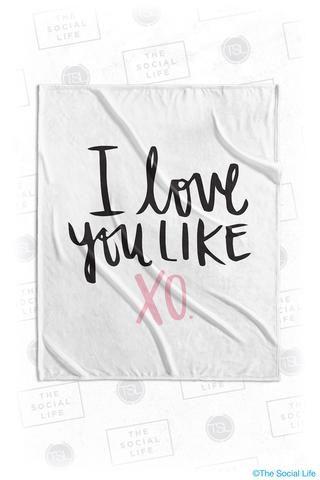 Chi Omega Love You Velvet Plush Blanket from The Social Life