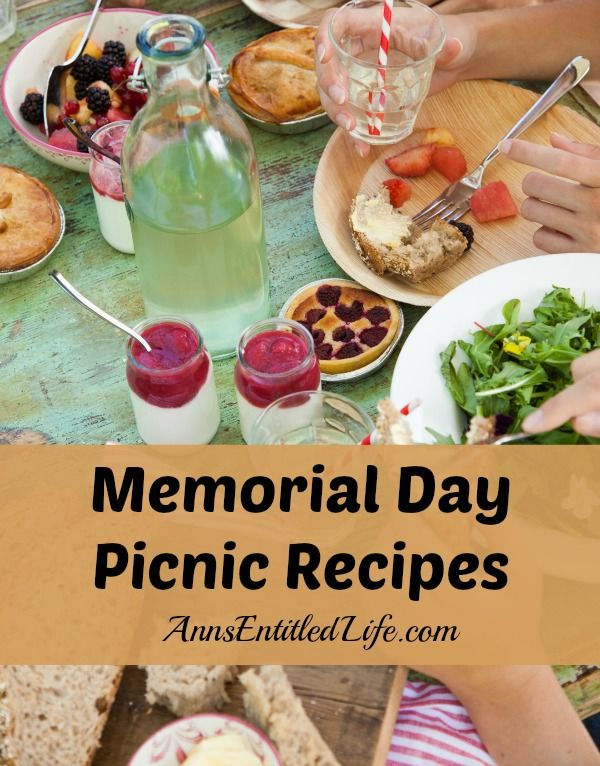 memorial day potluck ideas