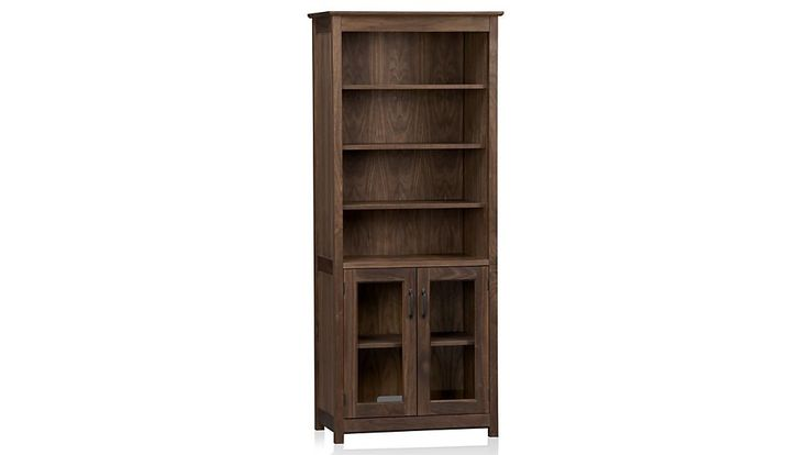 """Ainsworth Walnut 30"""" Media Tower with Glass/Wood Doors 