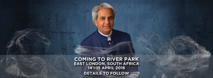 We are so excited to have Ps. Benny Hinn in East London, South Africa from the 14 - 15 April.
