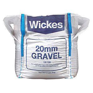 £42 Wickes 20mm Gravel Jumbo Bag