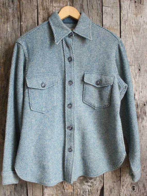 Vintage L L Bean Women S Wool Shirt Jacket Vintage We