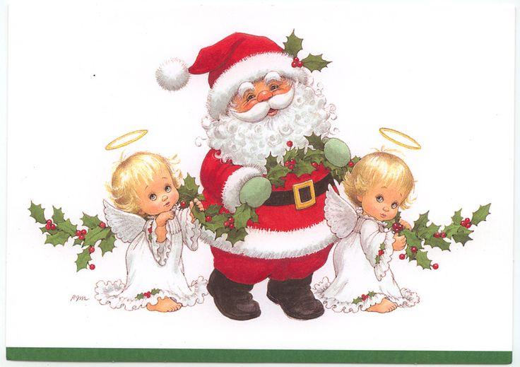 Santa with Holly Babes card