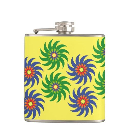 Coloridas formas patrón abstracto flores. Producto disponible en tienda Zazzle. Product available in Zazzle store. Regalos, Gifts. Link to product: http://www.zazzle.com/coloridas_formas_patron_abstracto_flores_hip_flask-256565377627384949?CMPN=shareicon&lang=en&social=true&rf=238167879144476949 #bottle #botella #petaca #flores #flowers