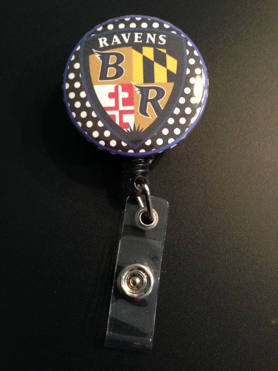 Baltimore Ravens Retractable Badge Reel ID Holder Clip by FinnzUp, $7.50