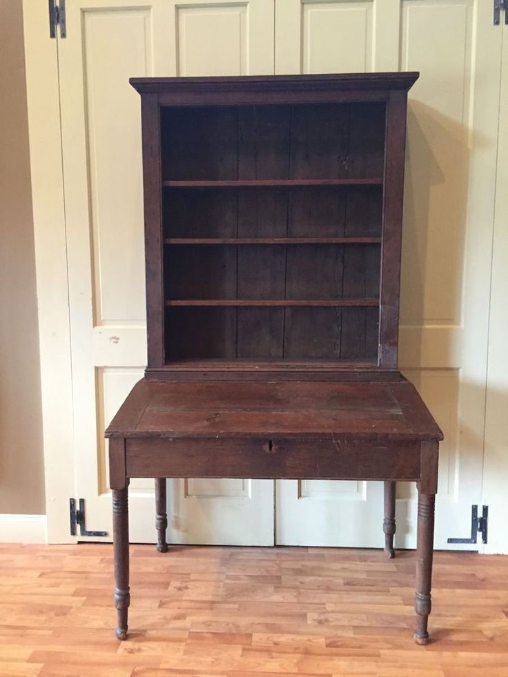 18Th-C Original Early American Antique StepBack Slant Top Cupboard Primitive - Best 25+ Early American Furniture Ideas On Pinterest Early