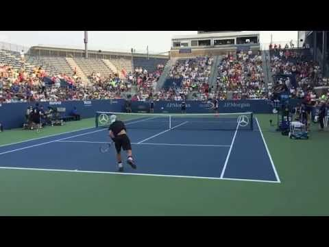 Tennis: Lleyton Hewitt's warmup serve in super slow motion (deuce side) - YouTube