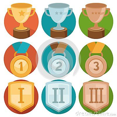 Vector achievement badges - gold, silver, bronze by Venimo, via Dreamstime