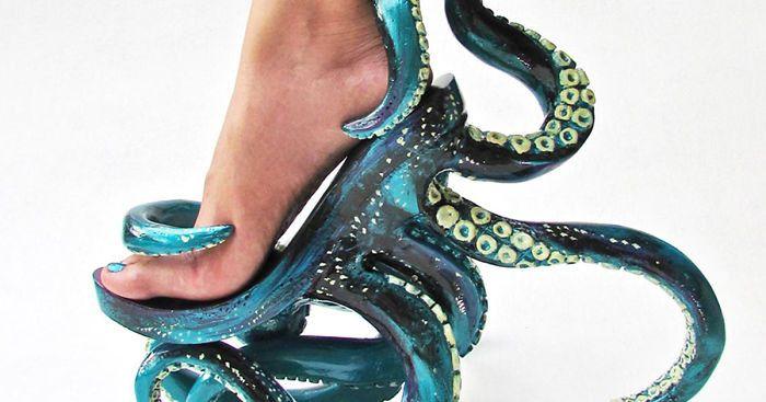 Босоножки-осьминожки и другая необычная обувь Кермита Тесоро