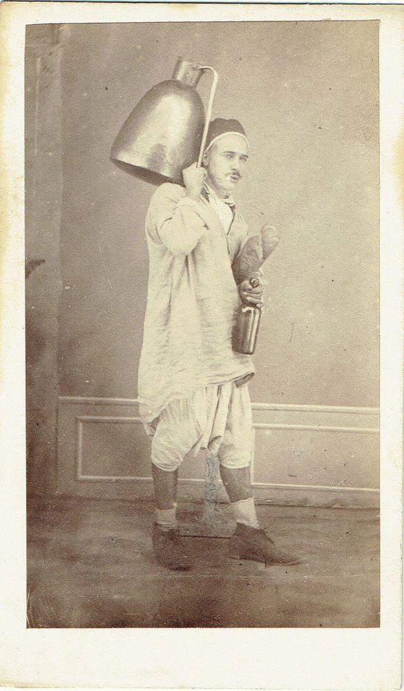 Photo cdv : Boyer , Alger ; Vieillard debout porteur d'eau , vers 1868   Collections, Photographies, Anciennes (avant 1900)   eBay!