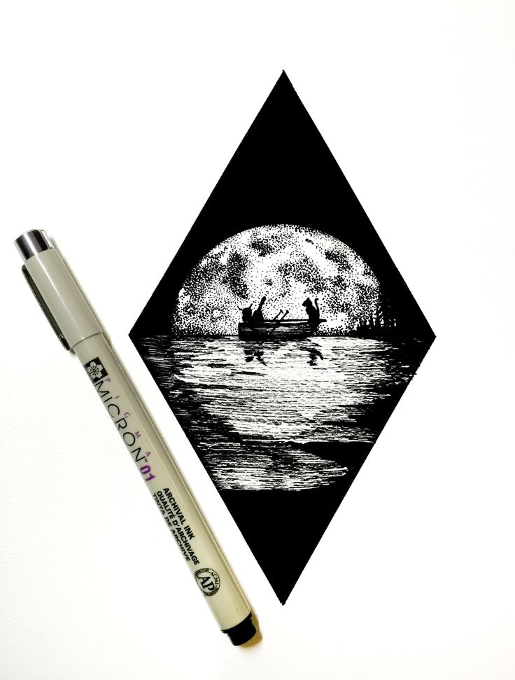 pen drawings ink myers derek tattoo drawing sketches sketch ilustraciones dibujos moon tattoos colectivobicicleta cool easy daily tatuajes nature diarias