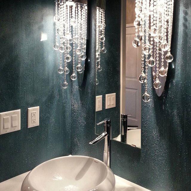 A Dramatic Powder Room Finish By M&M Bender Designer Wall