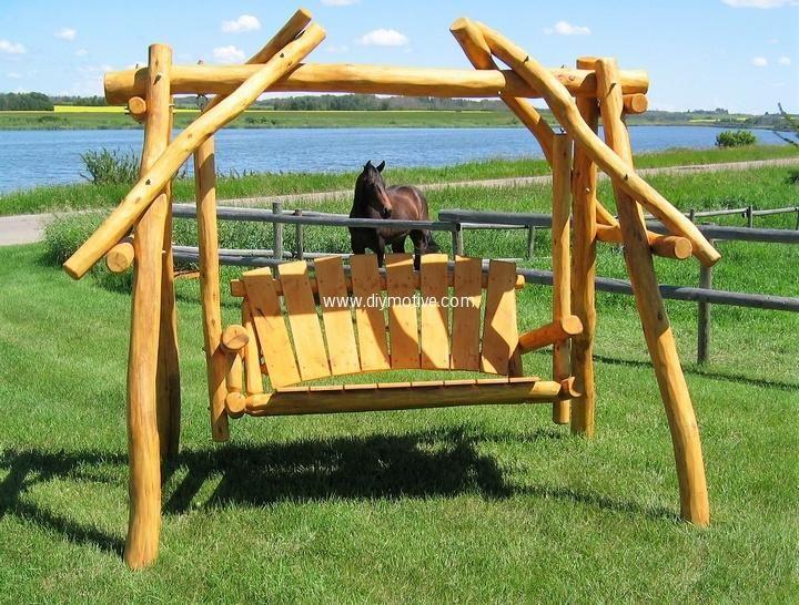 Best 25 wood swing ideas on pinterest tree swings diy for Log porch swing plans