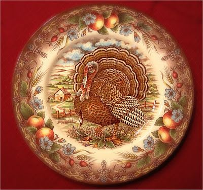 Royal Stafford Turkey Dinner Plates for Thanksgiving! & 112 best Turkey plates images on Pinterest | Turkey plates Turkey ...