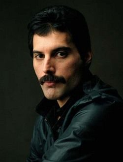 Freddie Mercury 1946 - 1991 (Age 45) Died from  bronchial pneumonia resulting from AIDS