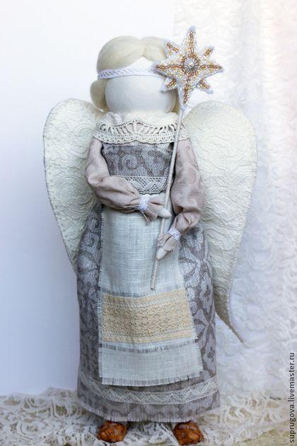"""""""Деревенский Рождественский Ангел"""" Кукла-образ. - белый,рождество,рождественский ангел"""