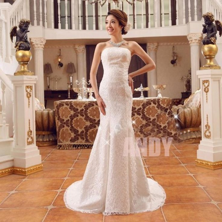 New 2015 Custom Plus Size Sexy Sweetheart Strapless Beautifully Organza Mermaid Wedding Dress Bridal Gown Affordable Dresses Ball Gown Wedding Dress From Andyzoeyang, $54.57| Dhgate.Com