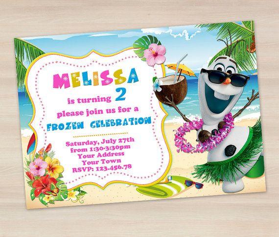 Frozen Summer Birthday Invitation  Olaf от funnypartyinvitation, $7.99