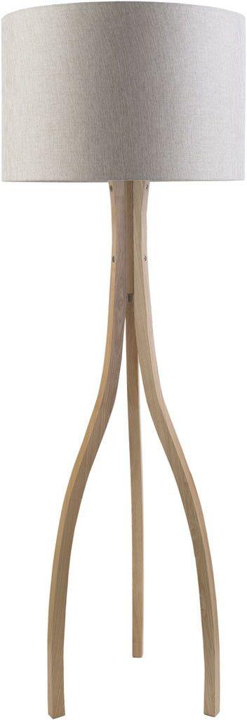 Duxbury Beige Floor Lamp