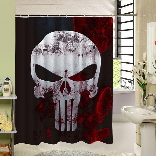 3d Skull Shower Curtain Halloween Shower Curtain Skull Shower Curtain Bathroom Shower Curtains