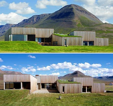 contemporary self build in country - Google Search
