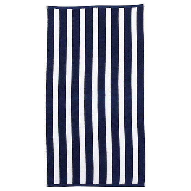 Blue Striped Pool Towel