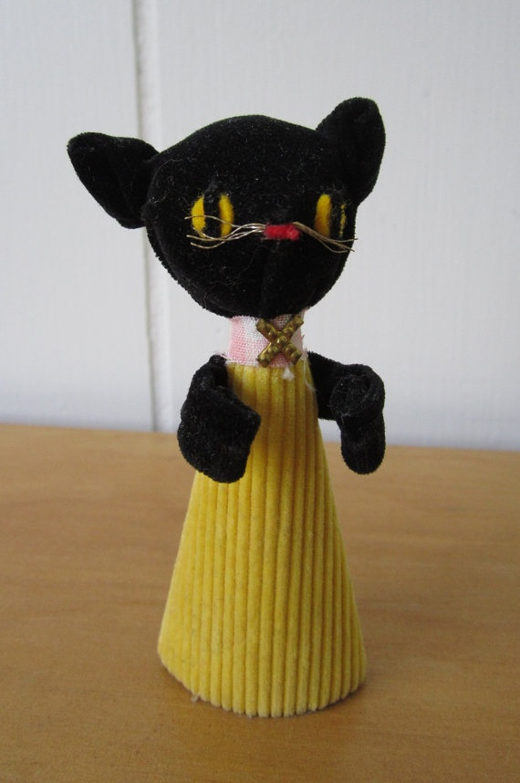 vintage cat finger puppet Japan