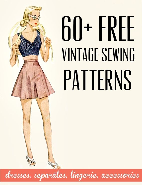 free vintage and retro dress sewing patterns, separates, lingerie ...