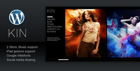 KIN is a minimalist magazine style photography template (Wordpress version). With 2 style variations and support both image gallery and videos