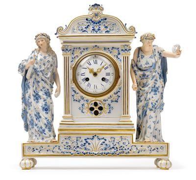 ~ A Porcelain Clock Case with Clock Movement ~ dorotheum.com