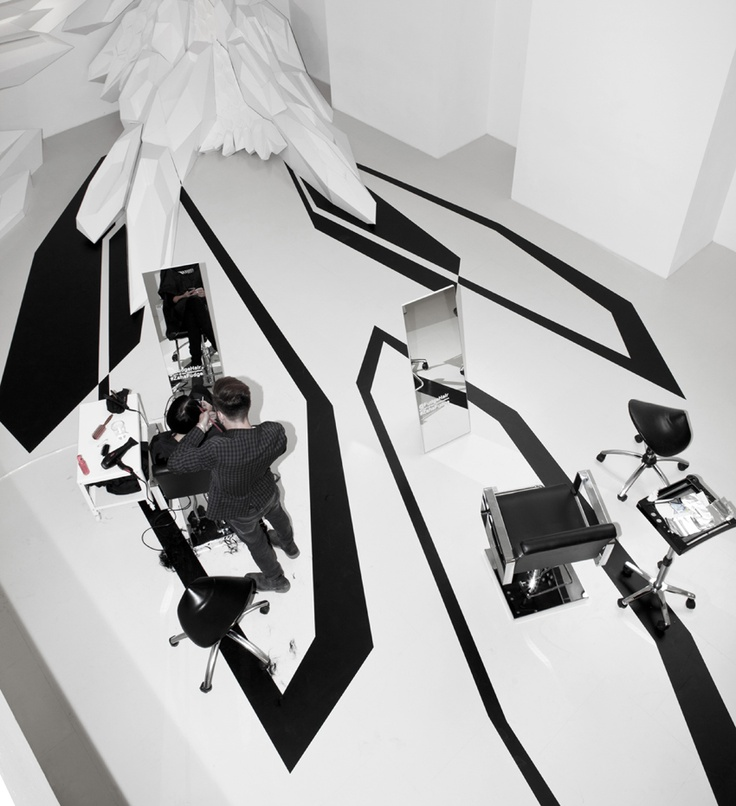 Fudge Hair Pop-up Salon - Design - Zaha Hadid Architects