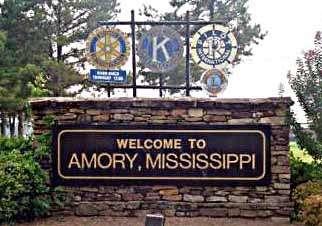 Amory, Mississippi where I was born.....