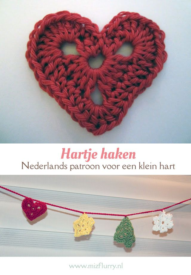 gratis haakpatroon hartje | crochet - crochet patterns, crochet