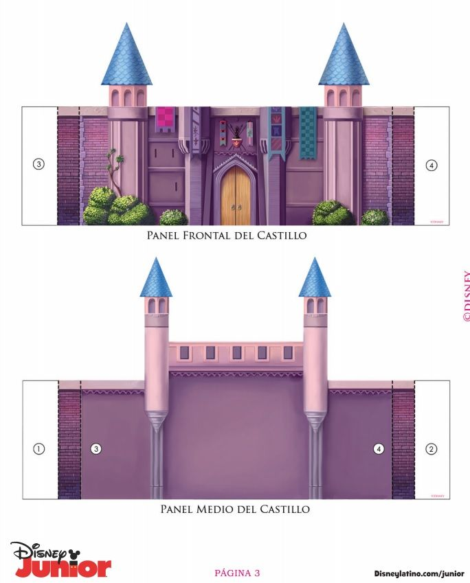 cut out castle template - 17 best images about sleeping beauty pink princess