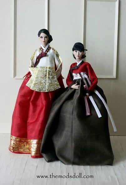 modsdoll with hanbok