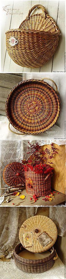Плетение из газет. Очень красивые работы
