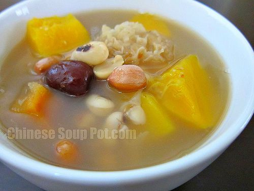 White Fungus Papaya Peanuts And Black Eyed Peas Soup Chinese Soup Pot Black Eyed Pea Soup