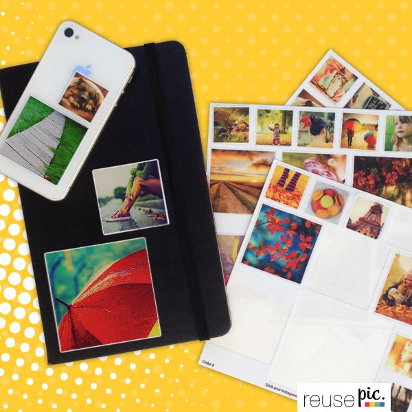 Personalize your phone and your notebook, just like you want them! Stick your reusable stickers everywhere!