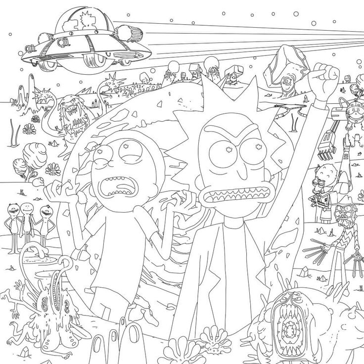 108 best Rick and Morty images on Pinterest Rick and morty - fresh coloring pages rick and morty