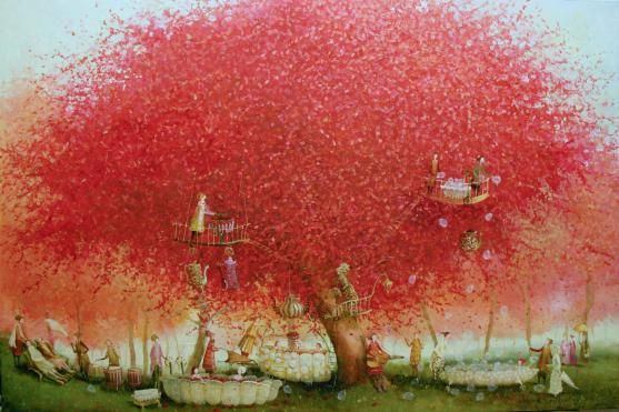 Garden spa : Oil on canvas - Remigijus Januskevicius